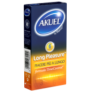 Akuel «Long Pleasure» 6 aktverlängernde Kondome