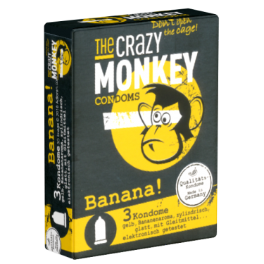 Crazy Monkey «Banana!» 3 Kondome