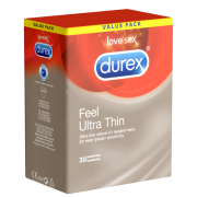 Durex «Gefühlsecht Ultra» (Feel Ultra Thin) Value Pack - 30 Kondome