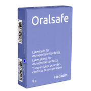 Oral Safe Latexschutztuch Vanillearoma 8er-Pack