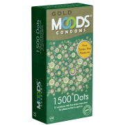 MOODS «GOLD» 1500 Dots Condoms - 12 Kondome mit 1500 Noppen