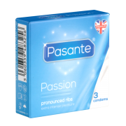 Pasante «Passion» (Ribbed) 3 gerillte Kondome