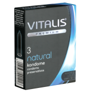 Vitalis PREMIUM Natural - 3 Kondome für Safer Sex